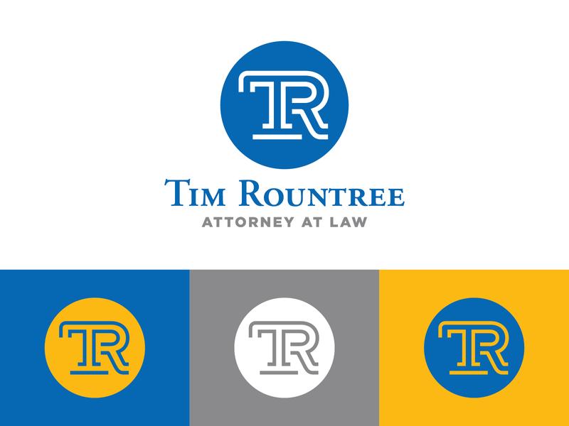 Tim Rountree logo branding attorney  law attorney icon design creative graphic logodesign logo identity brand icon monogram logotype