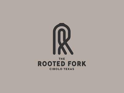 The Rooted Fork Cafe logo icon identity concept design fork logo branding brand cafe logo restaurant logo logomark logodesign fork logo r r logo
