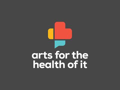 Arts For the Health of It logo talk health identity branding brand logo heart logo design communication podcast medical heart