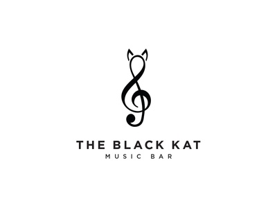 The Black Kat Music Bar logo
