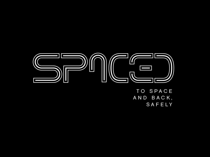 SPACED logo challenge inline custom letters typography graphic design concept logo challenge spaced