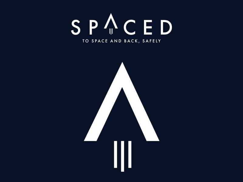 SPACED logo option 1 logo rocket house