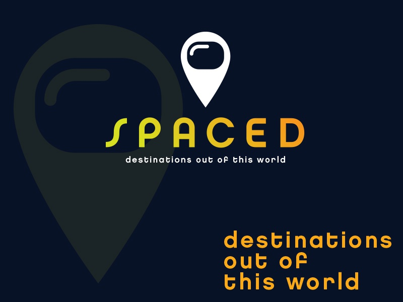 SPACED logo option 2 clever graphic design spaced gps pin map logo