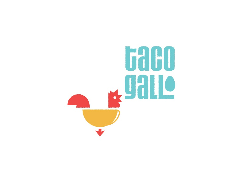 Taco Gallo Logo egg chicken icon identity brand design taco logo
