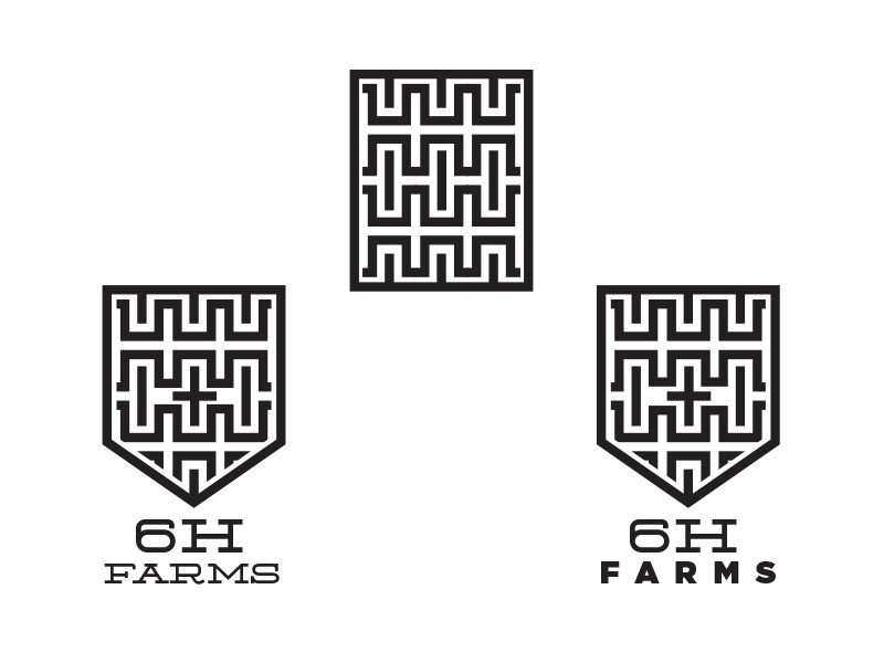 6H Farms logo WIP shield symbol icon identity concept logo farms h 6