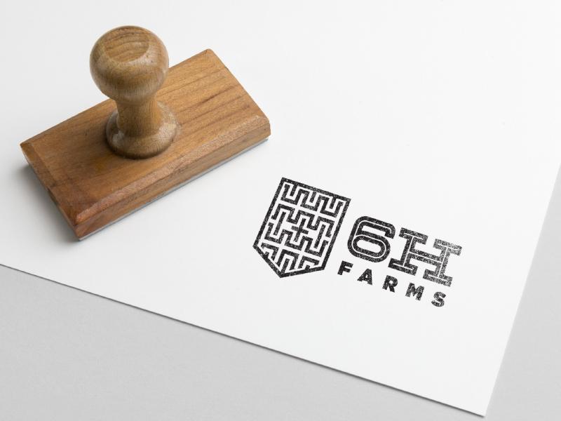 6h Farms Mock pattern icon brand christian cross logo far h 6