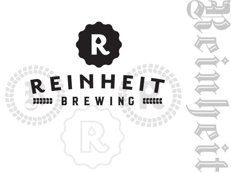 Reinheit Brewing Logo design type badge purity branding logo beer