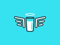 Healthier Milk Logo Concept 2a