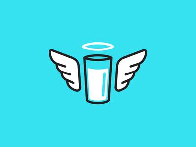Healthier Milk logo concept 2b