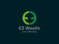 E3 Wealth logo Concept