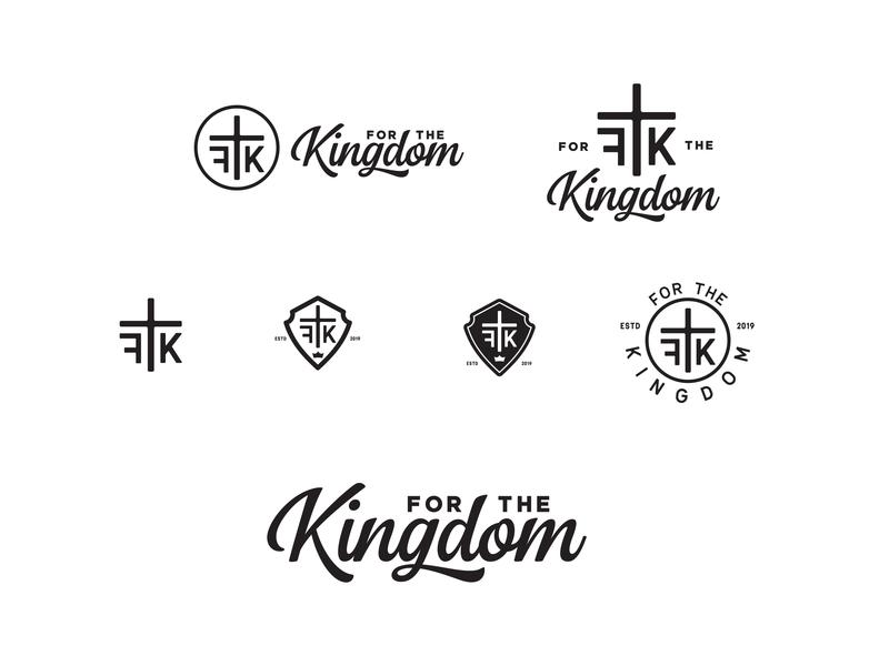 For The Kingdom Ministries logo WIP wip branding brand badge ftk jesus christ king christ kindgom logo