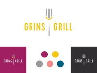 Grins Grill logo concept