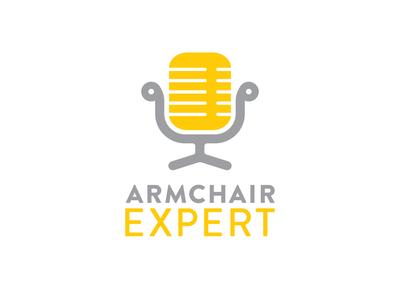 Armchair Expert podcast logo concept