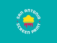 San Antonio Screen Print logo Concept