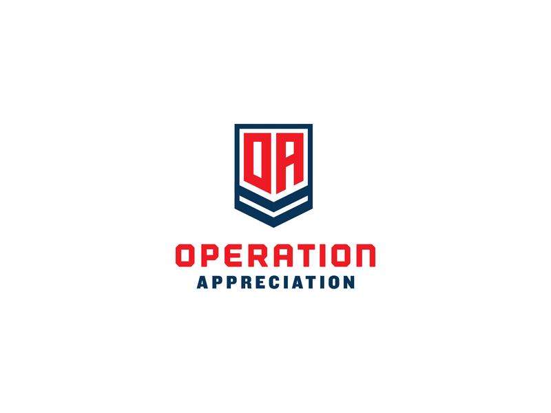Operation Appreciation logo unused logotype logo design branding usa patch badge military logo design logo