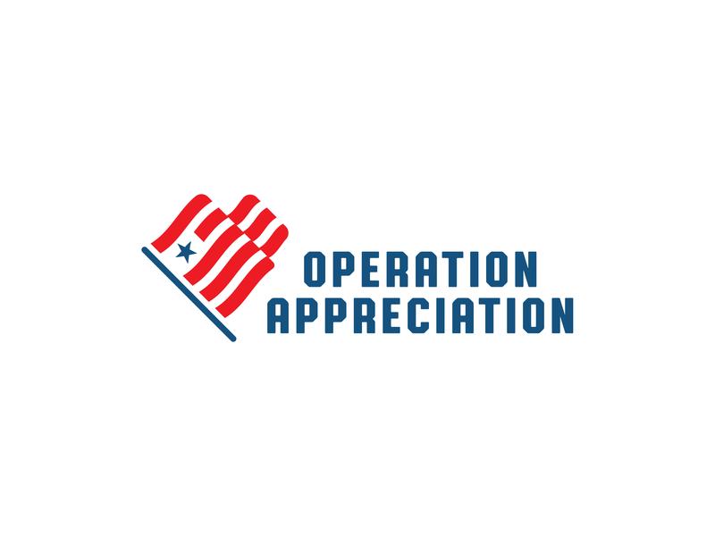 Operation Appreciation logo unused concept cever icon star usa flag heart logo design branding logodesign logo