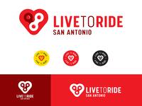 Live to Ride logo set