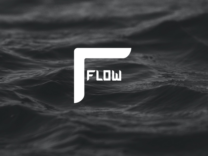 Flow Supplements logo fitness healthy concept clever branding design identity logotype icon logo design logodesign logo f flow branding