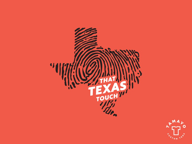 That Texas Touch tshirt Design print tshirt design imprint mark fingerprint branding texan texas