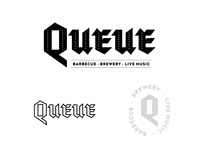 Queue BBQ logo Unused