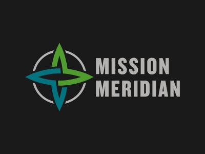 Mission Meridian unused logo church christian cross compass identity design concept graphic logodesign branding direction windrose globe icon brand logo mm meridian mission