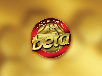 Beta Magic Repair Gel Logo beta gel repair magic honey design logo