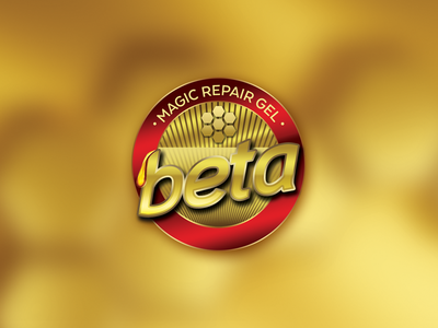 Beta Magic Repair Gel Logo beta gel repair magic honey design logo