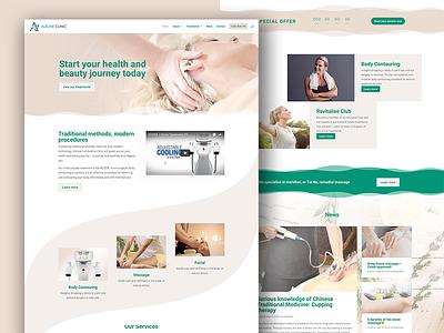 Ausline Clinic Web Design revitalise scizer beauty health facial massage body contouring ausline clinic ux ui website web design