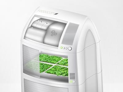 Foodocopy Indoor Food Planting Unit 2 device industrial design home appliance indoor green product 3d food planting product design