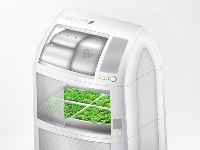 Foodocopy Indoor Food Planting Unit 2 device industrial design home appliance indoor green product 3d food planting product design