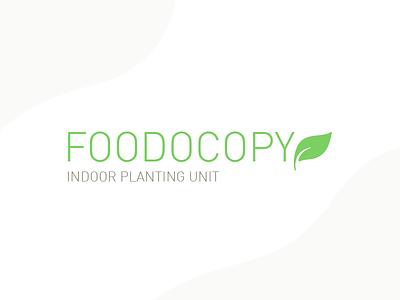 Foodocopy Logo home appliance device green planting food foodocopy logo