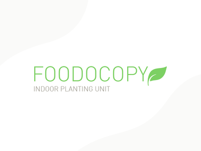 Foodocopy Logo home appliance device green planting food foodocopy logo