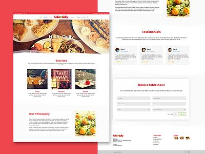 Hello Dolly Website Design red australia adelaide falafel middle eastern asian eastern hello dolly food website web design