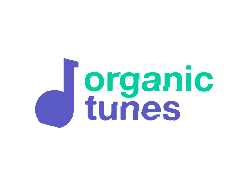 Organic Tunes Logo For A Music Project website turquoise purple violet green music notes note project music branding logo tunes tune organic