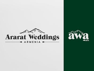 Ararat Weddings Armenia Logo blackandwhite bw green events wedding planning marriage wedding ararat design logo