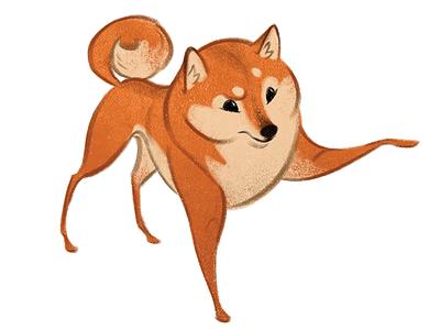 Shiba Confused photoshop painting texture shiba doge puppy shiba inu dog character character design illustration drawing