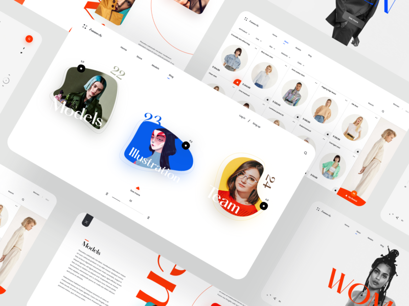Zummedy Store + Blog Design 💎 shop store full color full screen grid desktop website webdesign interface landing web design clean minimal ux ui