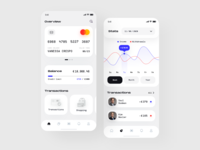 Wallet Azorum 📲 graphics transfer payment interface money transaction crypto bank uiux ios app stats mobile banking finance banking credit card clean app wallet app wallet