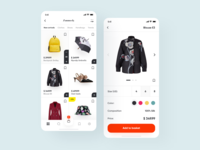 Zummedy App Store 👗 cart ecommerce redesign clothing trend payment mobile fashion buy add to cart shopping app store app ios application interface design clean minimal ux ui
