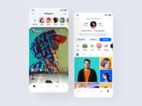 Instagram Redesign 2020 concept design uiuxdesign uiux ui trend icons card design adobexd adobe xd social app feed instagram redesign instagram application app interface design clean minimal ux ui