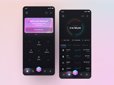 Banexcoin App 📲 coins financial money transfer crypto wallet mobile ethereum crypto crypto currency wallet exchange bitcoin fluent application app interface design clean minimal ux ui