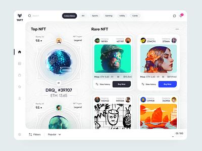 NFT Store Desktop 💎💫💸 panel design components social app cards ui dashboard shopping app store nfts nft webdesign application landing web interface design clean minimal ux ui