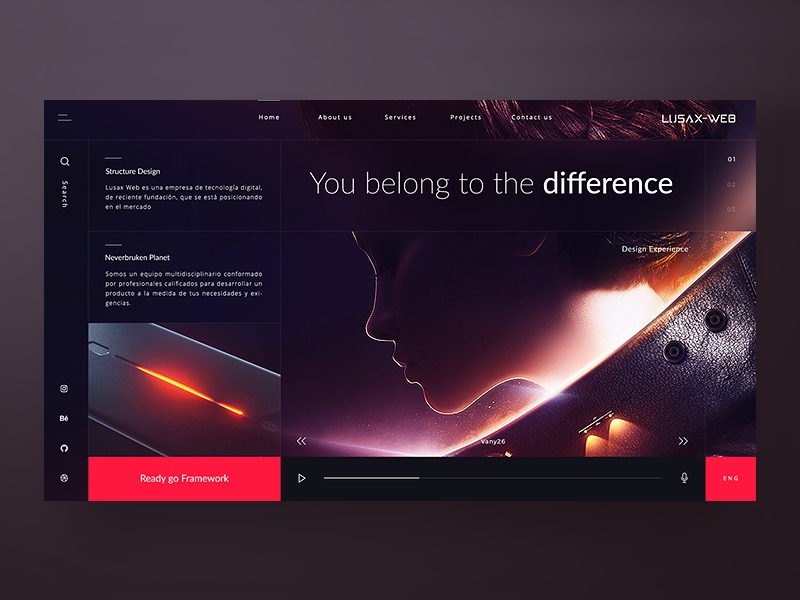 Concept - Lusax Web - Design Home 2 🌌 modern dark desktop minimal interface clean ux ui design fashion homepage website