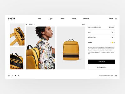 Union Merch - Store Design one page ui store shop product e-commerce landing clean ux website cart web