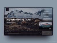 Wind Sounds - Fluent website Design