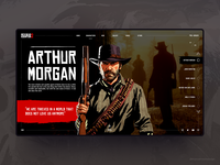 Red Dead Redemption 2 Web Design Concept 🔥
