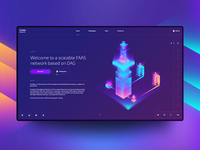 Home Website Isometric illustration.