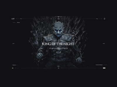 Game of Thrones - King of the Night