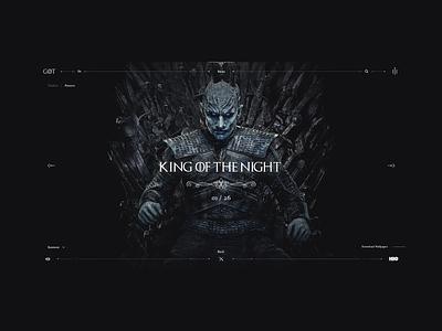 Game of Thrones - King of the Night mining grid web got gameofthrones uiux dark interface website webdesign landing minimal design ux ui