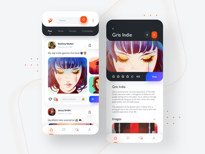 📲 🎮 App Redesign 3dJuegos.com uiuxdesign ux ui minimal gallery ios mobile interface clean colors categories cards apple application app games app